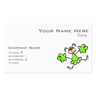 Animadora verde chartreuse, de neón tarjetas de visita