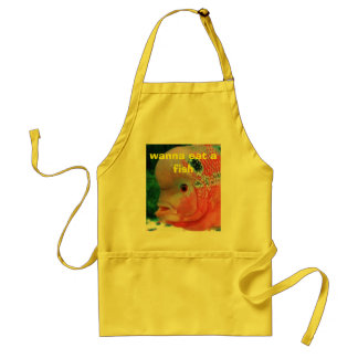 Animal4, wanna eat a fish adult apron
