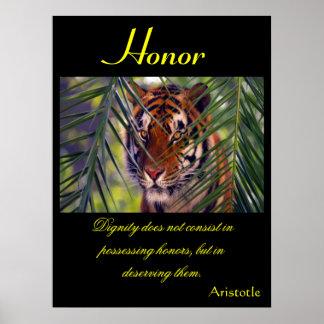 Animal 10 de los posters del honor