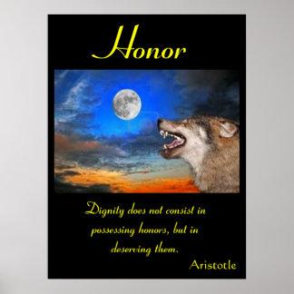 Animal 12 de los posters del honor