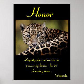 Animal 14 de los posters del honor