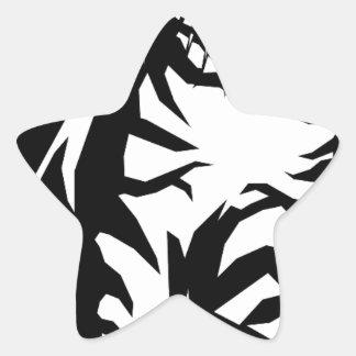 animal-157079 animal cat wild cat PETS BLACK WHIT Star Sticker