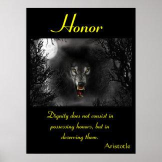Animal 23 de los posters del honor