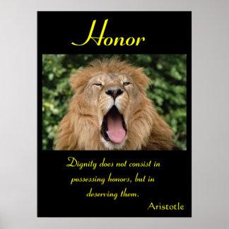Animal 24 de los posters del honor