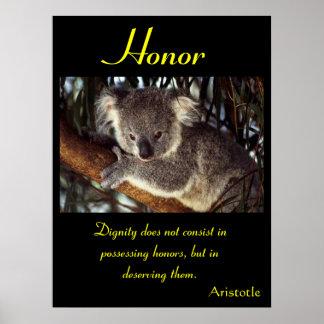 Animal 28 de los posters del honor