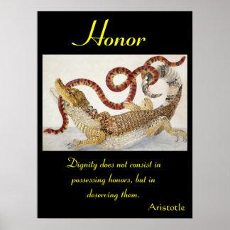 Animal 41 de los posters del honor