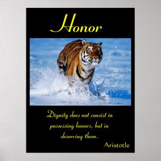 Animal 42 de los posters del honor