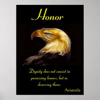 Animal 43 de los posters del honor