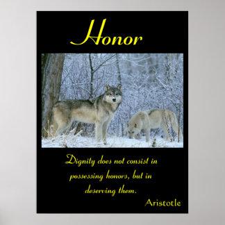 Animal 44 de los posters del honor