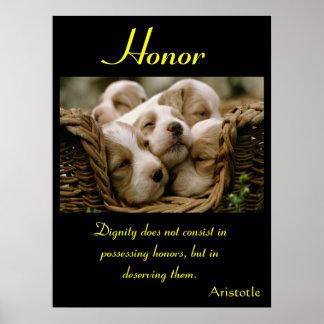 Animal 45 de los posters del honor