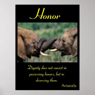 Animal 46 de los posters del honor