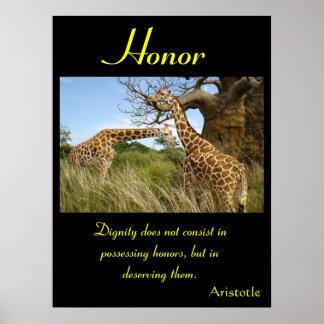 Animal 47 de los posters del honor