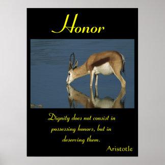Animal 5 de los posters del honor