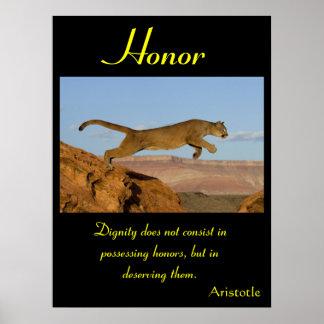 Animal 61 de los posters del honor