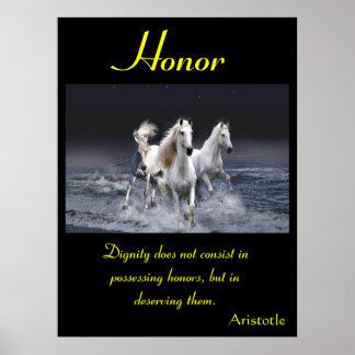 Animal 62 de los posters del honor