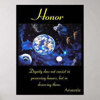 Animal 63 de los posters del honor