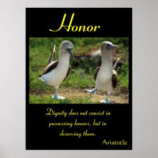 Animal 64 de los posters del honor
