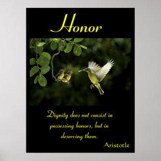 Animal 65 de los posters del honor