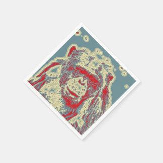 animal abstracto - chimpancé servilleta desechable