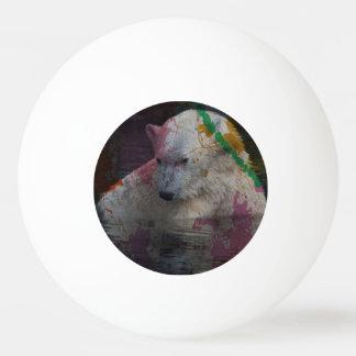 animal abstracto - oso polar pelota de tenis de mesa