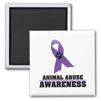 Animal Abuse Awareness 2 Inch Square Magnet