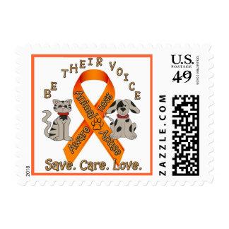 Animal Abuse Awareness Postage Stamp