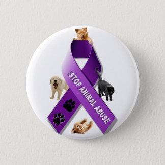 Animal Abuse Awareness Ribbon Button