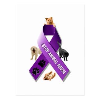 Animal Abuse Awareness Ribbon Postcard