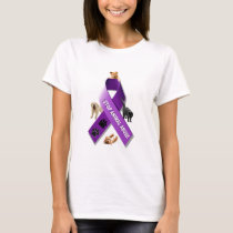 Animal Abuse Awareness Ribbon T-Shirt