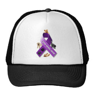 Animal Abuse Awareness Ribbon Trucker Hat