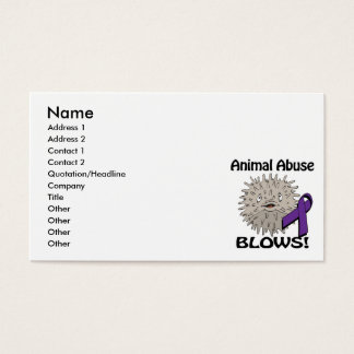 Animal Abuse Blows Awareness Design Business Card