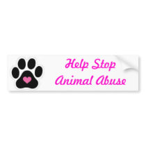 Animal Abuse Bumper Sticker