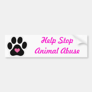 Animal Abuse Bumper Stickers