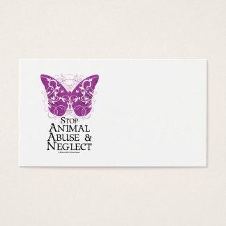 Animal Abuse Butterfly Business Card