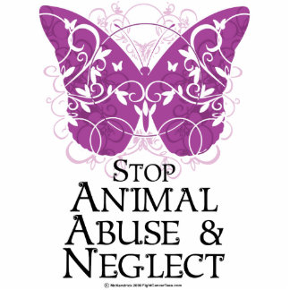 Animal Abuse Butterfly Cutout