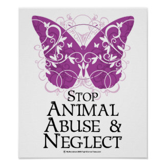 Animal Abuse Butterfly Poster
