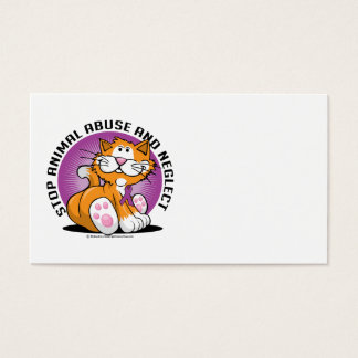 Animal Abuse Cat Business Card