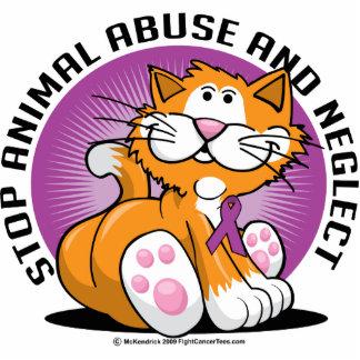 Animal Abuse Cat Statuette