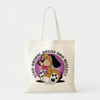 Animal Abuse Dog Canvas Bags