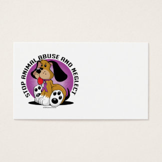 Animal Abuse Dog Business Card