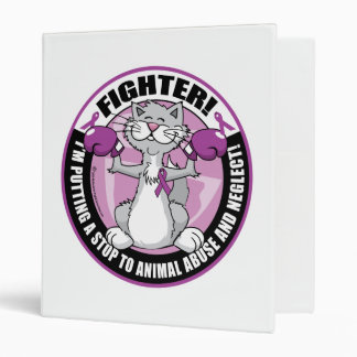 Animal Abuse Fighter Cat 3 Ring Binder
