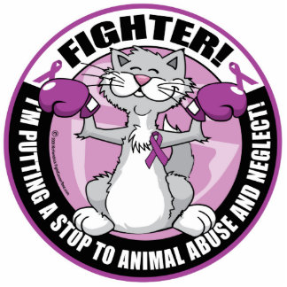 Animal Abuse Fighter Cat Statuette