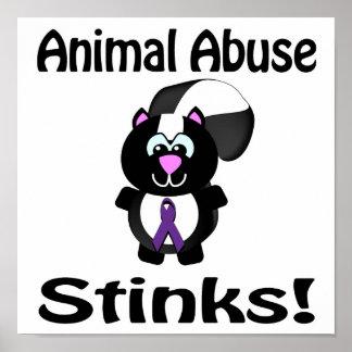 Animal Abuse Stinks Skunk Awareness Design Poster
