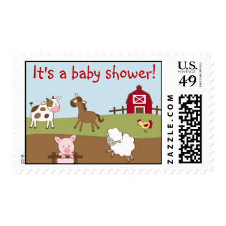 Animal Acres Farm Animal Custom Postage Stamps
