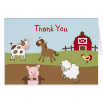 Animal Acres Farm Animal Thank You Note Cards
