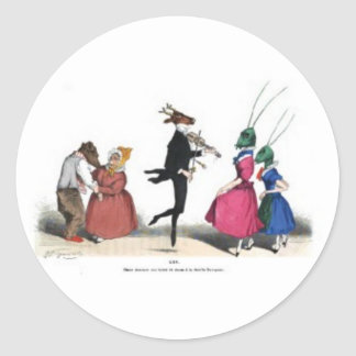 Animal acting human – Grandville Metamorphoses Classic Round Sticker