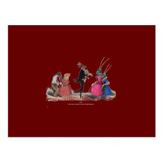 Animal acting human – Grandville Metamorphoses Postcard