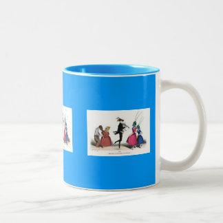 Animal acting human – Grandville Metamorphoses Two-Tone Coffee Mug