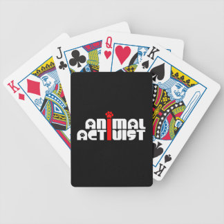 Animal Activist Bicycle Playing Cards