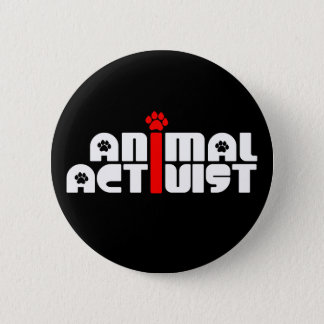 Animal Activist Button